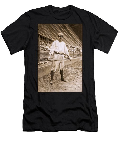Babe Ruth On Deck Men's T-Shirt (Athletic Fit)