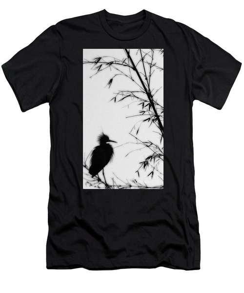 Baby Egret Waits Men's T-Shirt (Athletic Fit)