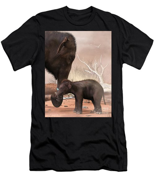 Baby Elephant Men's T-Shirt (Athletic Fit)