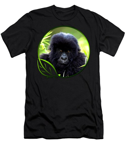 Baby Gorilla Men's T-Shirt (Slim Fit) by Dan Pagisun
