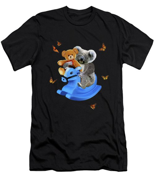 Baby Koala Bear Rocks Men's T-Shirt (Athletic Fit)