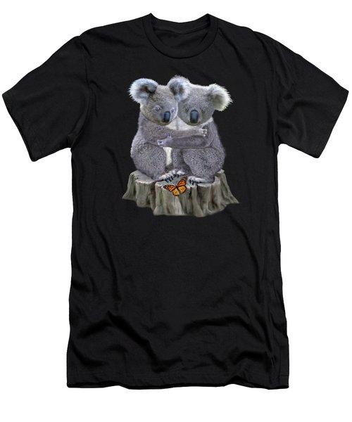 Baby Koala Huggies Men's T-Shirt (Athletic Fit)
