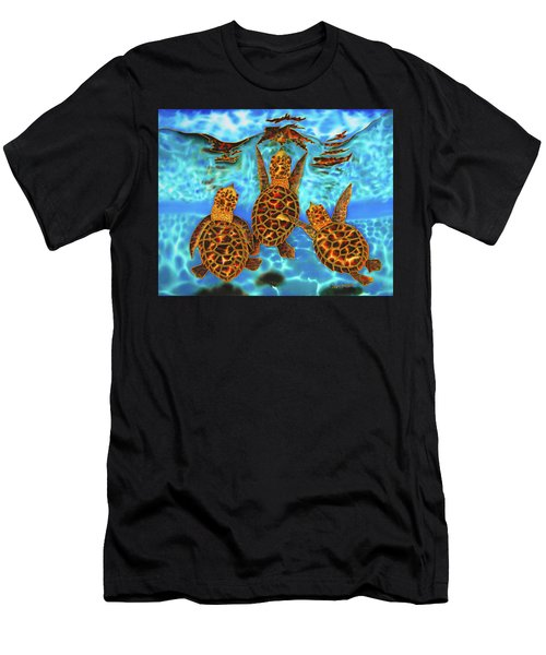 Baby Sea Turtles Men's T-Shirt (Athletic Fit)