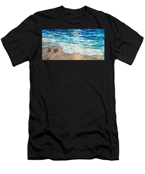 Baby Sea Turtles Iv Men's T-Shirt (Athletic Fit)