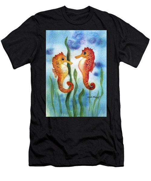 Baby Seahorses Men's T-Shirt (Athletic Fit)