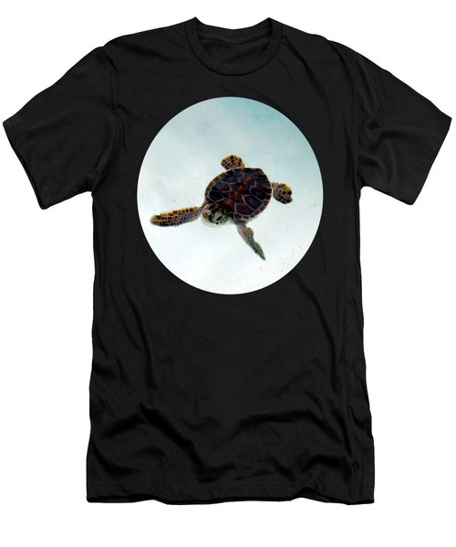 Men's T-Shirt (Athletic Fit) featuring the photograph Baby Turtle by Francesca Mackenney
