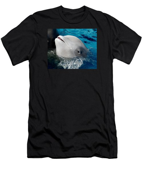 Baby Whale Men's T-Shirt (Slim Fit) by Bob Pardue