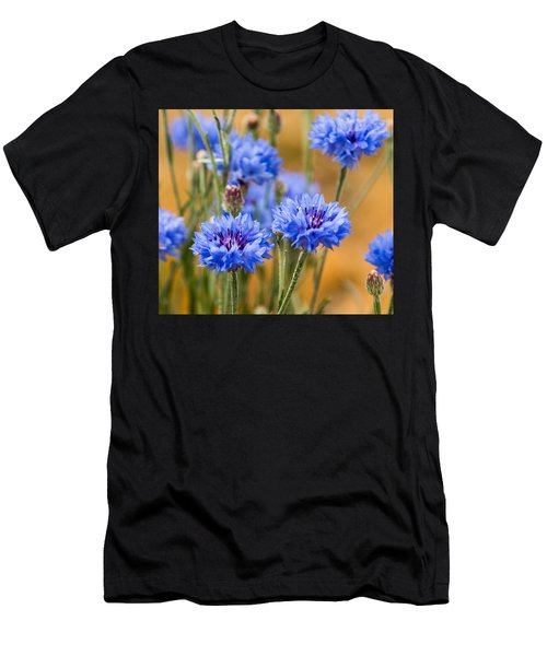Bachelor Buttons In Blue Men's T-Shirt (Athletic Fit)
