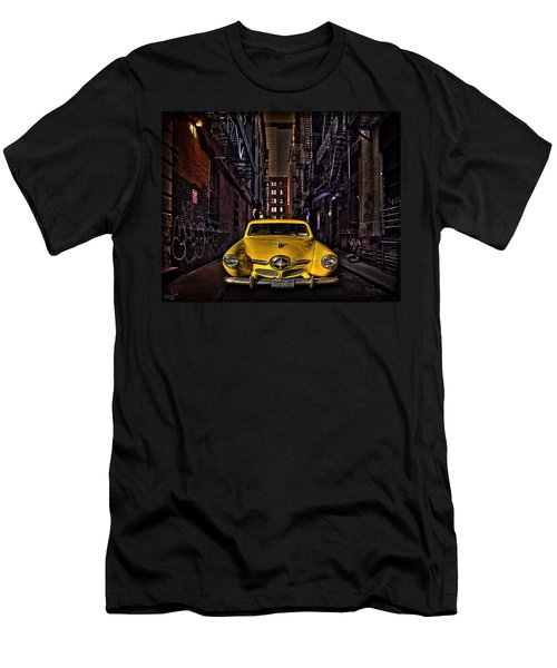 Back Alley Taxi Cab Men's T-Shirt (Athletic Fit)