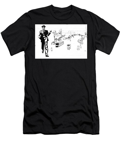 Men's T-Shirt (Slim Fit) featuring the photograph Back In Early Twenties. by Yurix Sardinelly