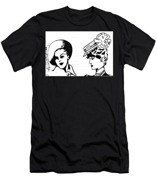 Men's T-Shirt (Slim Fit) featuring the photograph Back In Twenties Mural by Yurix Sardinelly
