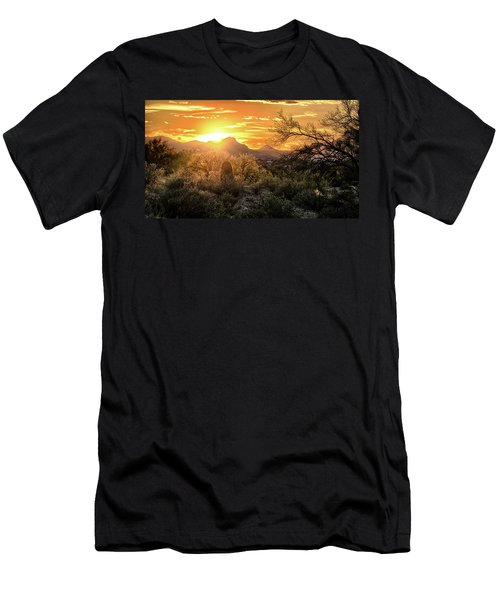 Back Lit Men's T-Shirt (Athletic Fit)