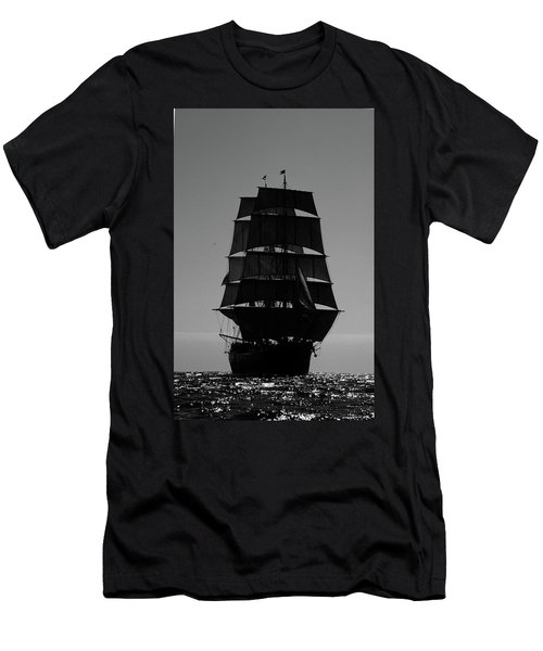 Back Lit Tall Ship Men's T-Shirt (Athletic Fit)