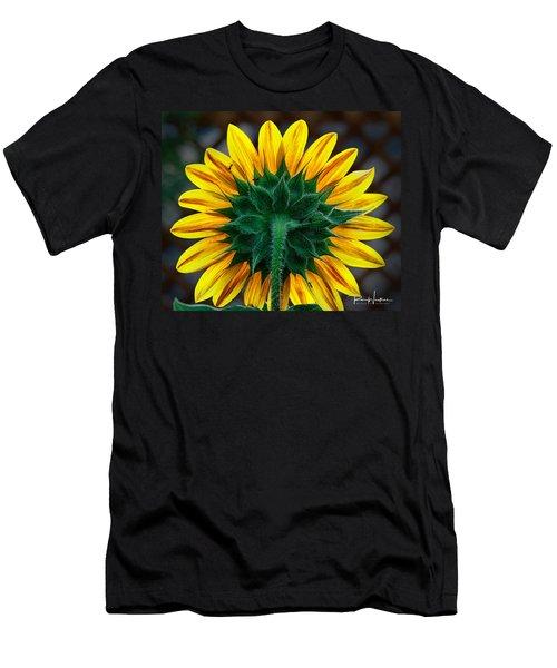 Back Of Sunflower Men's T-Shirt (Athletic Fit)