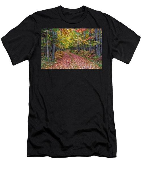 Back Road Color Tour  Men's T-Shirt (Athletic Fit)