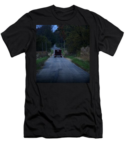 Men's T-Shirt (Slim Fit) featuring the photograph Back Roads by Rowana Ray