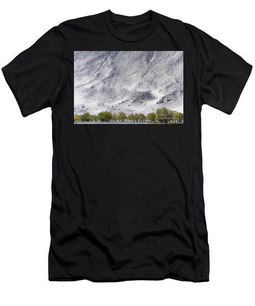 Backdrop Of Sand, Chumathang, 2006 Men's T-Shirt (Athletic Fit)