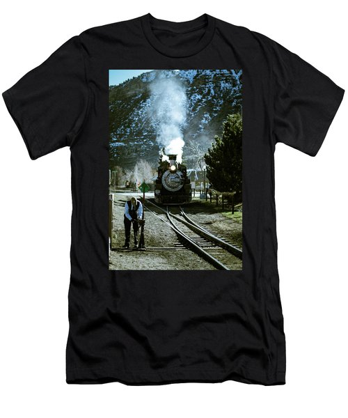 Backing Into The Station Men's T-Shirt (Slim Fit) by Jason Coward