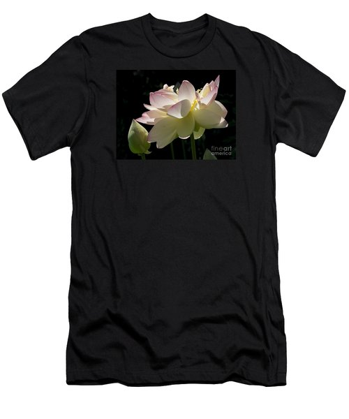 Backlit Lotus Blossom Men's T-Shirt (Athletic Fit)