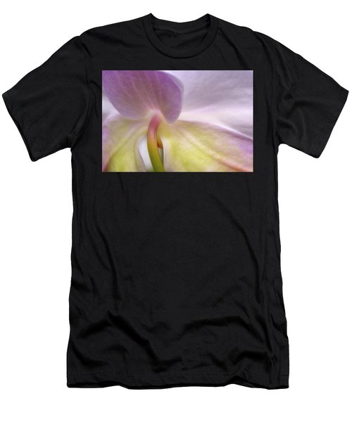 Men's T-Shirt (Athletic Fit) featuring the photograph Backlit Orchid by Michael Hubley