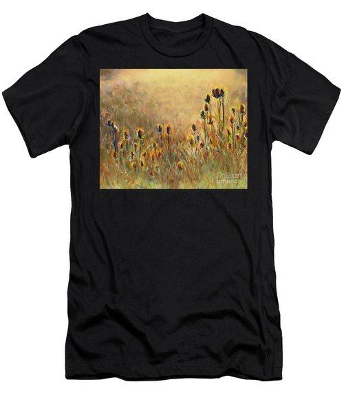 Backlit Thistle Men's T-Shirt (Athletic Fit)