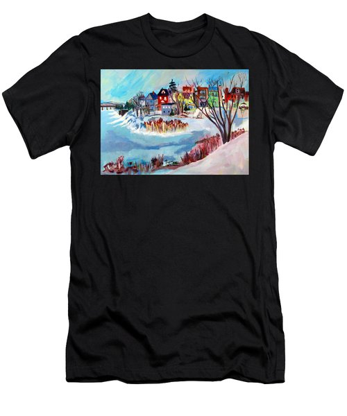 Backside Of Schenectady Stockade In February Men's T-Shirt (Athletic Fit)