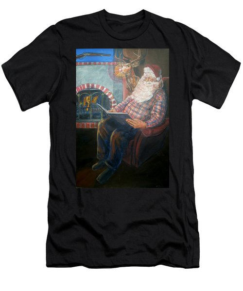 Men's T-Shirt (Slim Fit) featuring the painting Bad Rudolph by Bryan Bustard