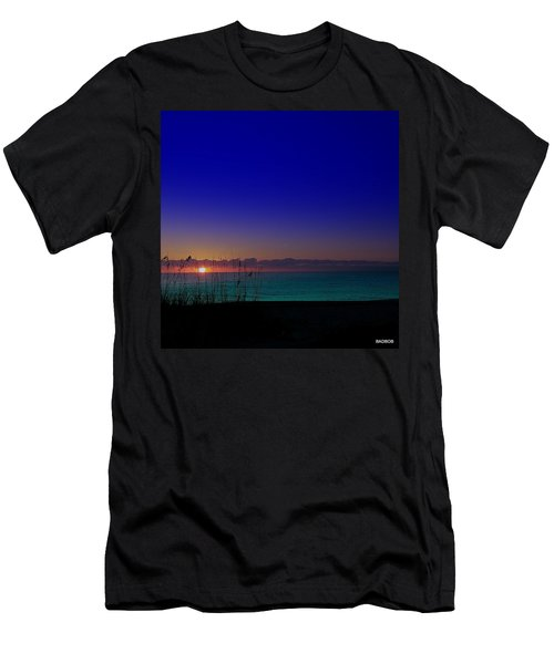 Badblue Sunrise  Men's T-Shirt (Athletic Fit)