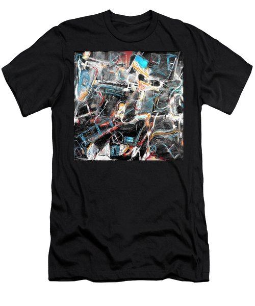 Men's T-Shirt (Slim Fit) featuring the painting Badlands 2 by Dominic Piperata