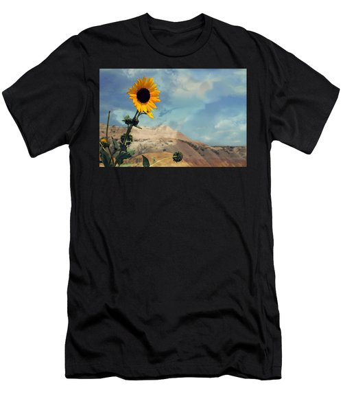 Badlands Of South Dakota Yellow Flower Men's T-Shirt (Athletic Fit)