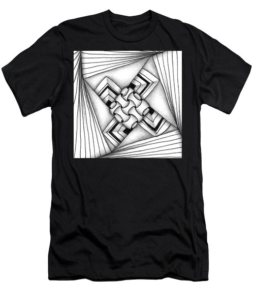 Men's T-Shirt (Athletic Fit) featuring the drawing Baecube String by Jan Steinle