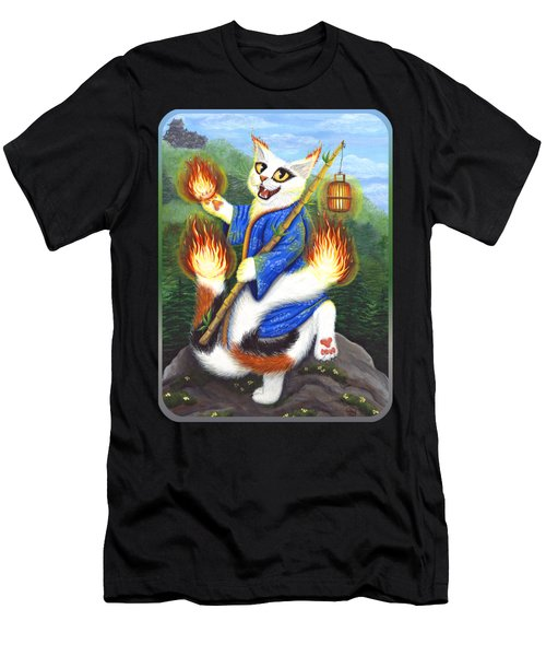 Bakeneko Nekomata - Japanese Monster Cat Men's T-Shirt (Athletic Fit)