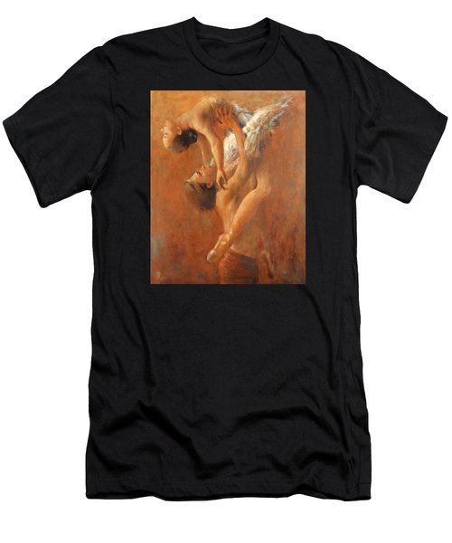 Balance In The Couple. Dance Painting .ballet.  Men's T-Shirt (Athletic Fit)