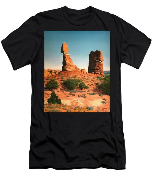 Balanced Rock At Arches National Park Men's T-Shirt (Athletic Fit)