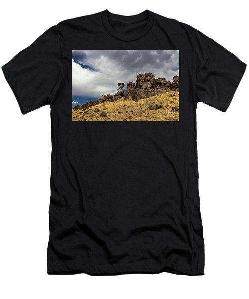 Balanced Rock Idaho Journey Landscape Photography By Kaylyn Franks Men's T-Shirt (Athletic Fit)