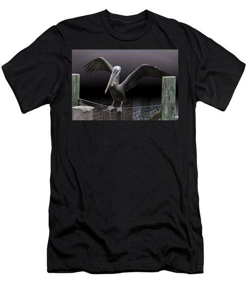 Balancing Act - Pelican Men's T-Shirt (Athletic Fit)