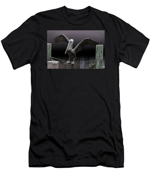 Balancing Act - Pelican Men's T-Shirt (Athletic Fit)