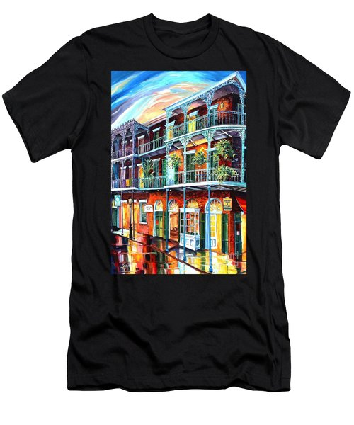 Balconies On St. Peter Street Men's T-Shirt (Athletic Fit)