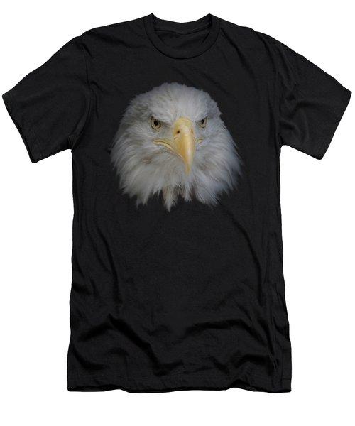 Men's T-Shirt (Slim Fit) featuring the photograph Bald Eagle 1 by Ernie Echols