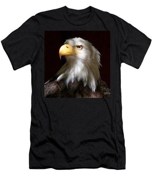 Bald Eagle Closeup Portrait Men's T-Shirt (Athletic Fit)