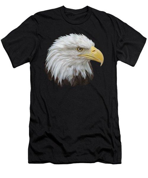 Men's T-Shirt (Slim Fit) featuring the photograph Bald Eagle Profile by Ernie Echols