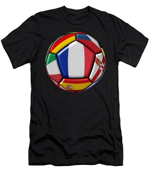 Ball With Flag Of France In The Center Men's T-Shirt (Athletic Fit)