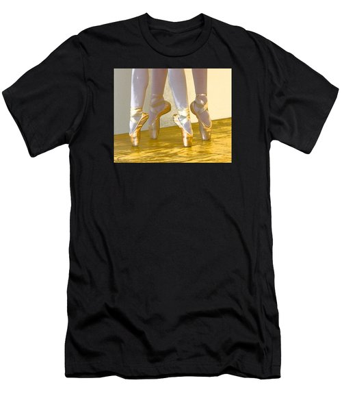 Ballet Second Position In Gold Men's T-Shirt (Athletic Fit)