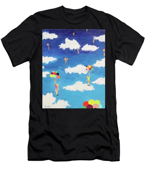 Balloon Girls Men's T-Shirt (Athletic Fit)