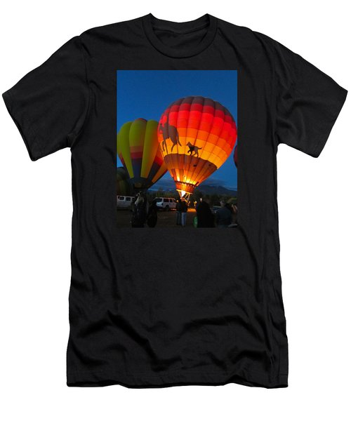 Men's T-Shirt (Slim Fit) featuring the photograph Balloon Glow by Brenda Pressnall