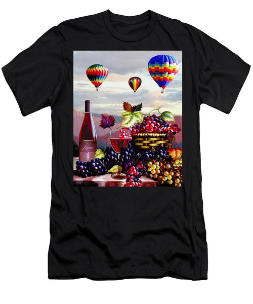 Balloon Ride At Dawn Men's T-Shirt (Slim Fit) by Ron Chambers