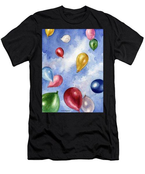 Balloons In Flight Men's T-Shirt (Athletic Fit)