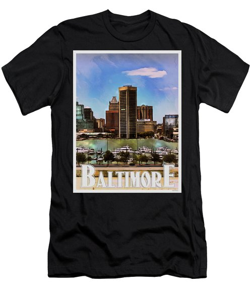 Baltimore Skyline Men's T-Shirt (Athletic Fit)