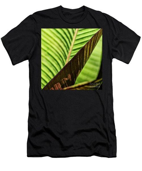 Men's T-Shirt (Athletic Fit) featuring the photograph Banana Leaf Edge by Brad Allen Fine Art