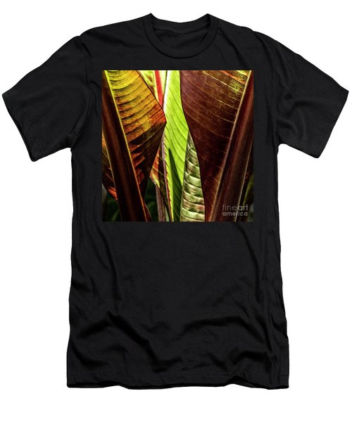 Men's T-Shirt (Athletic Fit) featuring the photograph Banana Leaf Jungle by Brad Allen Fine Art